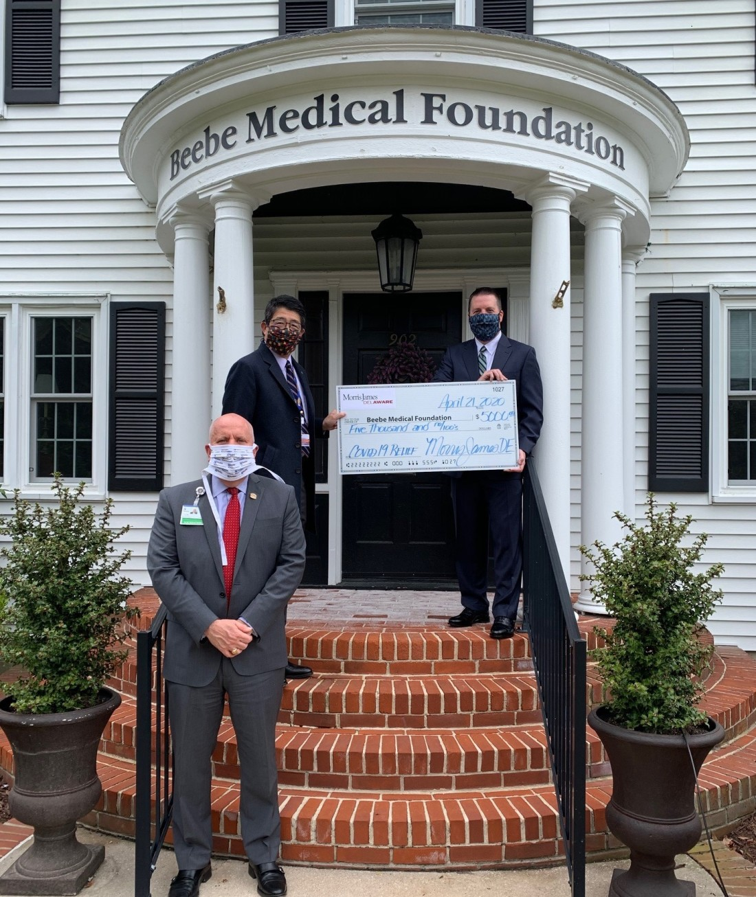 Beebe Medical Foundation Check Donation